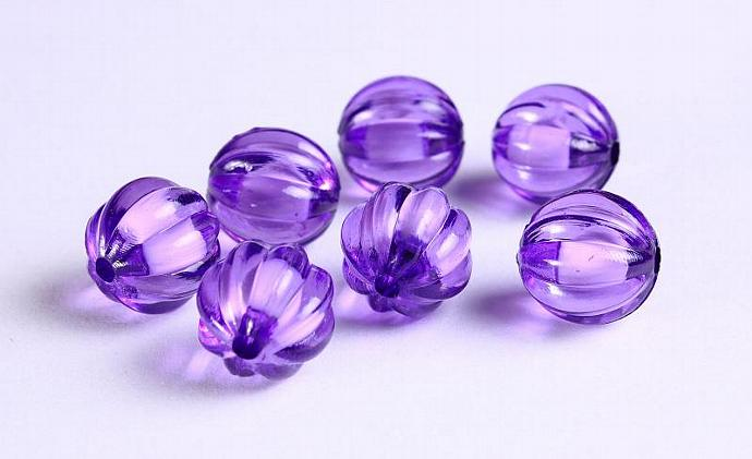 12mm Purple melon acrylic round lucite bead 8pcs (1119)