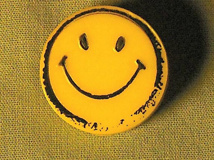 Smiley Face Original Retro Buttons from the 1960s