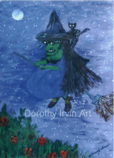 The Romantic Tale of Zora the Witch Plate 1 of 5 Signed ACEO Art Print