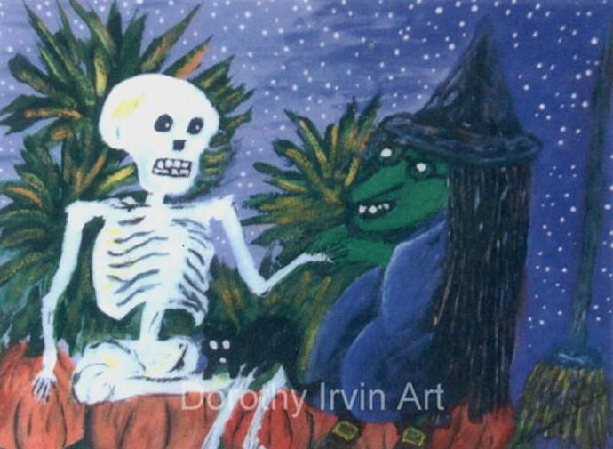 The Romantic Tale of Zora the Witch Plate 3 of 5 Signed ACEO Art Print