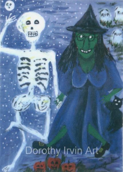 The Romantic Tale of Zora the Witch Plate 5 of 5 Signed ACEO Art Print