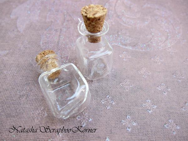 Jewelry Shoppe Glass Bottles- 2pcs Rectangle