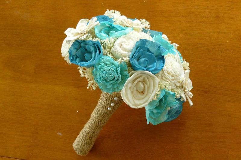 Bridal Bouquet, Sola wood Bouquet, Wedding | annetteewert