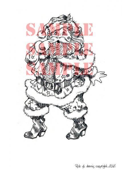 Night Before Christmas Santa digi stamp
