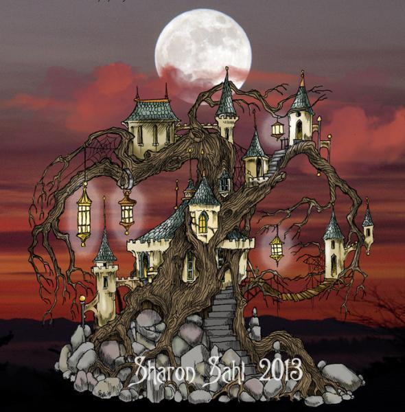 Fairy Queen's Palace Scene Digi
