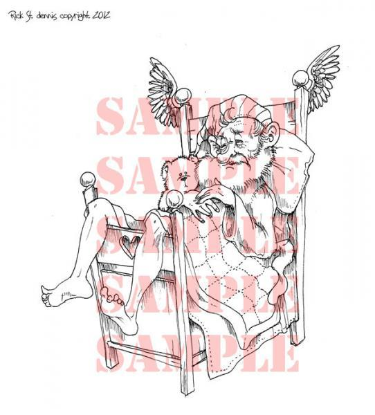 AP style An Old Man's Dreams Digi Stamp