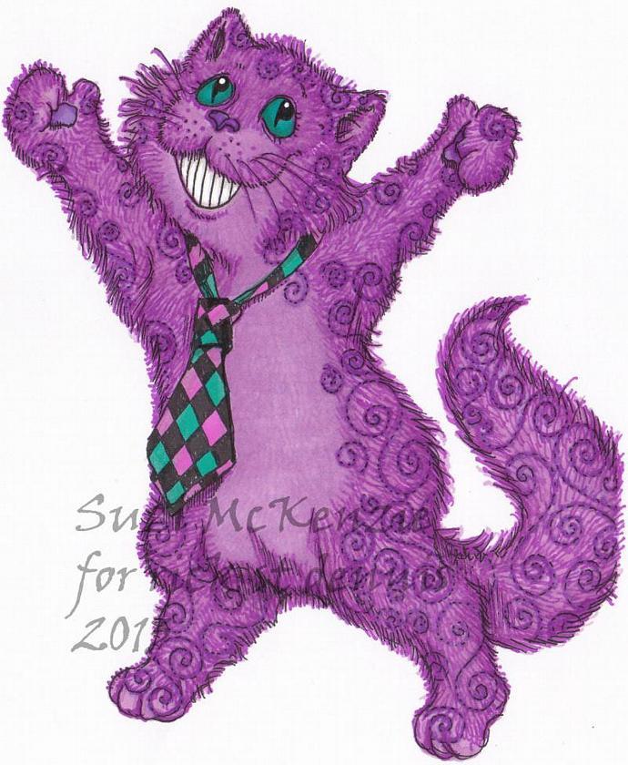 Cheshire Cat digi stamp