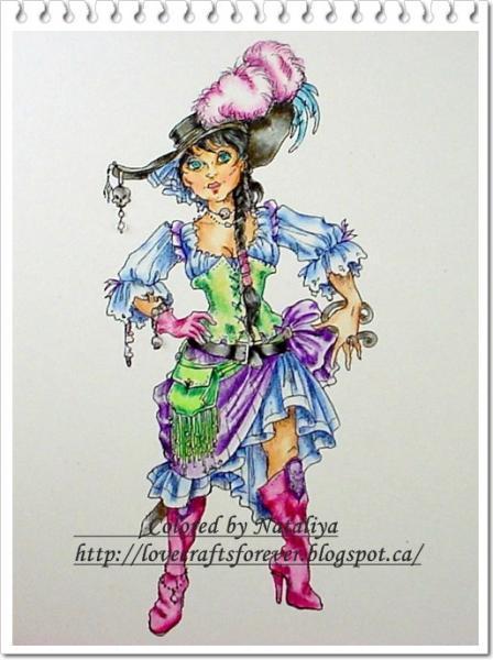Privateer (pirate) Woman digi stamp