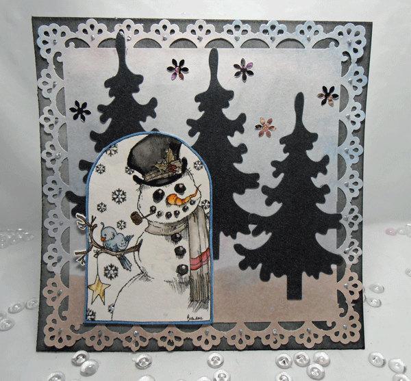 Winter Friends digi stamp