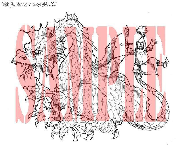 Get Off My Back Dragon Digi Stamp