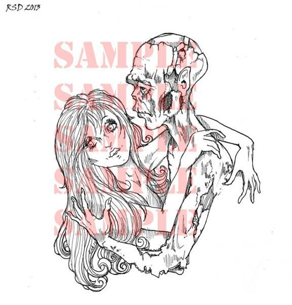 ZOMBIE Love digital Stamp