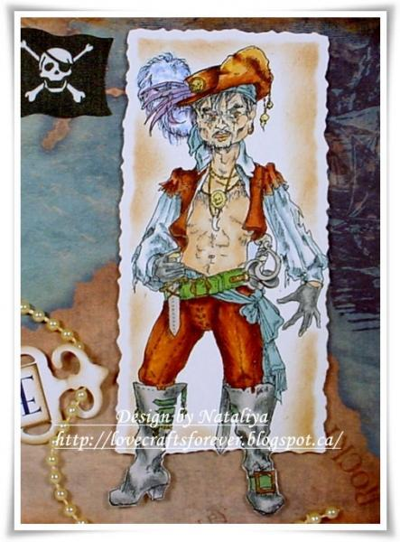 Privateer (pirate) Man digi stamp