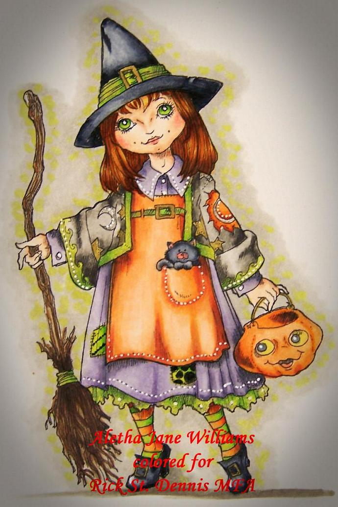 IsAbELla Trick or Treat digi stamp
