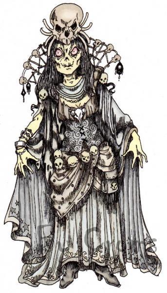 Queen of Skulls Digi Stamp