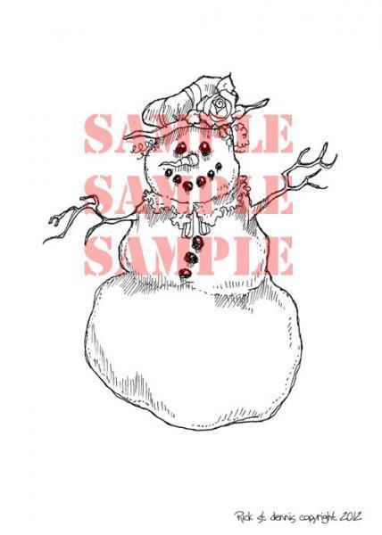 MRS. Frosty digi stamp
