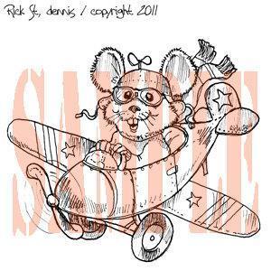 High Flyin Mouse digital stamp