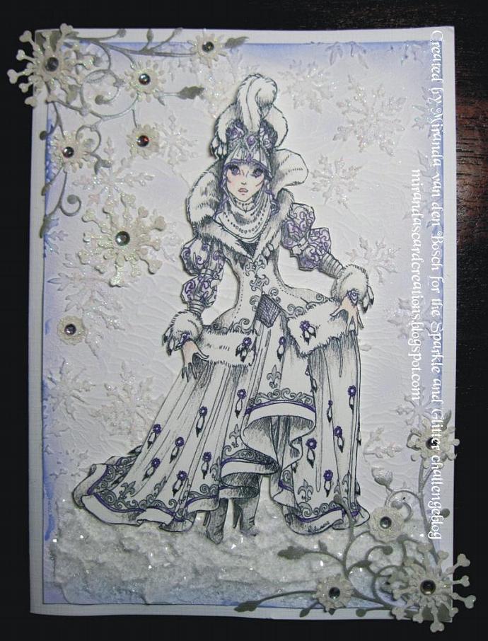 The Snow Queen Digital Stamp