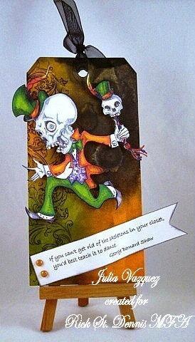 Voodoo Skull Man digi stamp