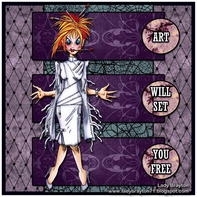 Art will set us free digi stamp