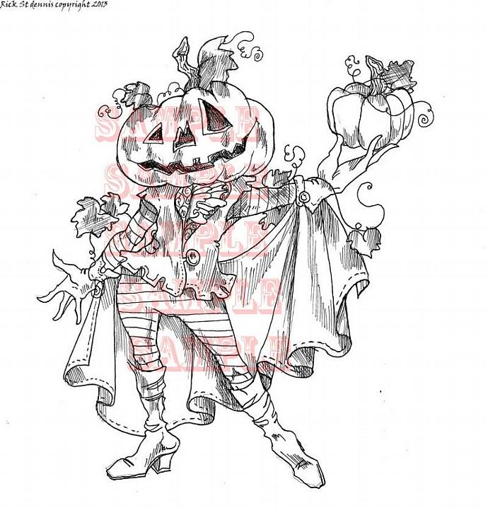 Count Calabaza digi stamp
