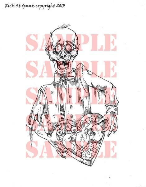 Zombie-Soft Centers digital Stamp