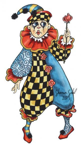 French Clown 2013 Digi Stamp