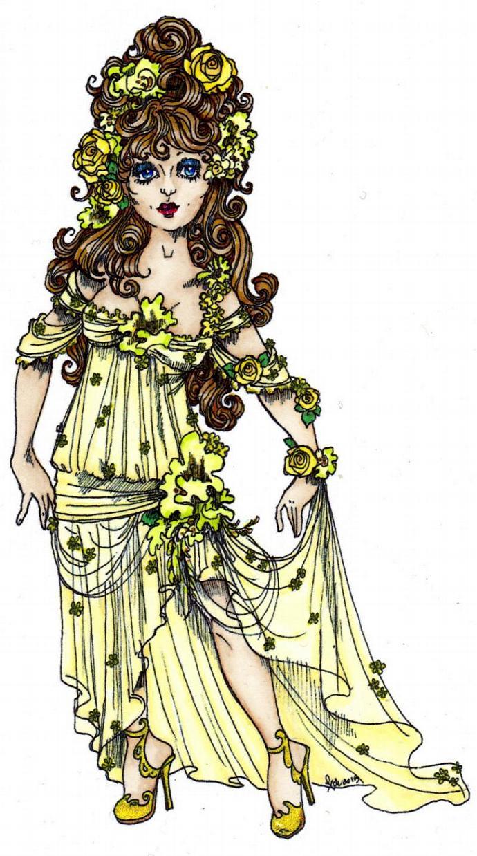 Spring Goddess digi stamp