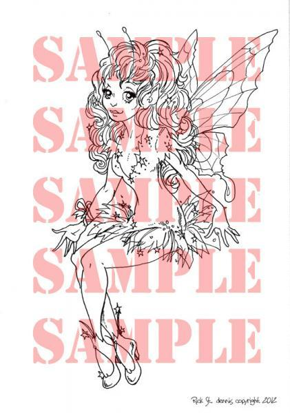 Star Fairy Digital Stamp