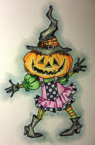 Pumpkin WiTch digital stamp NEW 2012