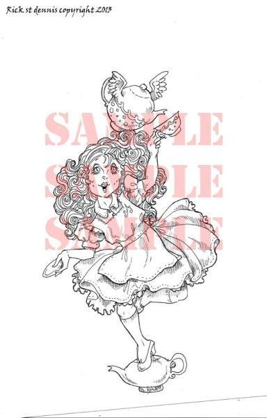 Mad Tea Party 2013 Digital Stamp