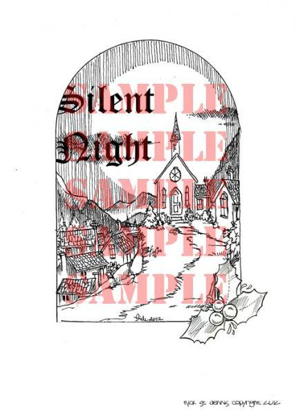 Silent Night digi stamp