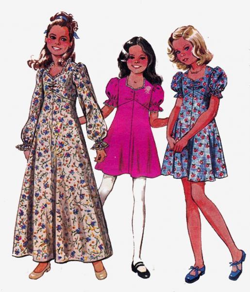 Girls Boho or Maxi Dress 1970s by allthepreciousthings on Zibbet