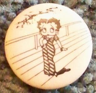 Vintage -  Betty Boop Button 1980