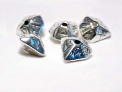Incan Silver II -  silver pewter beads