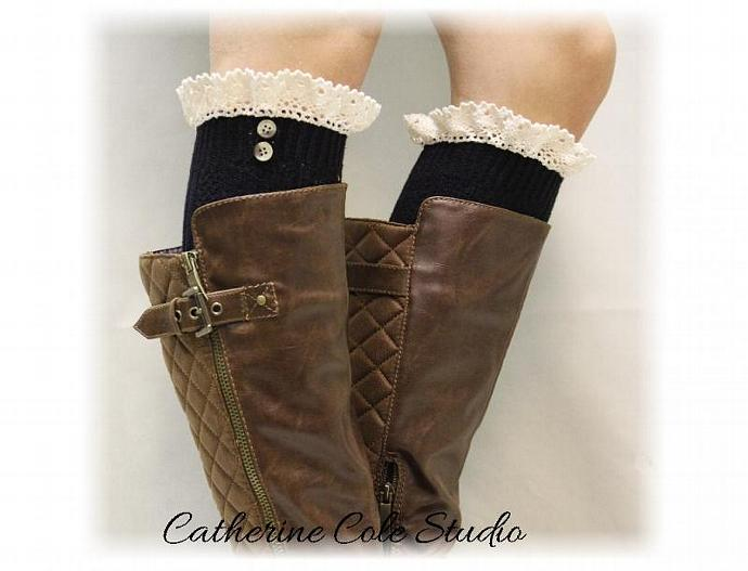 a41a09f3298 Lace boot socks womens boot socks boot socks tall boot socks knee socks tall