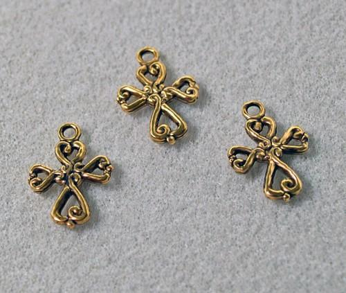 Gold Cross Charm or Pendant