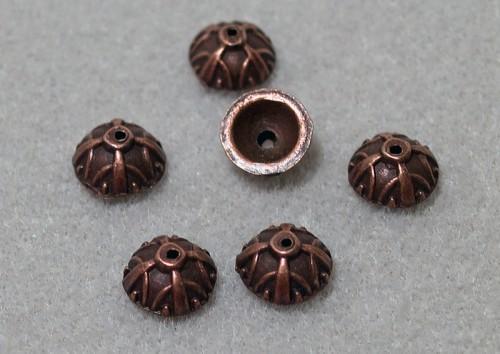 Designer Antiqued Copper Bead Caps