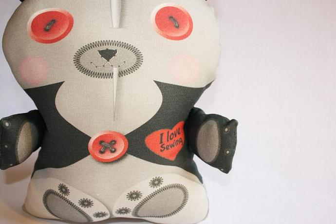 Halloween toy, Vampire toy bear, Organic cotton, Stuffed toy, baby toy, plush