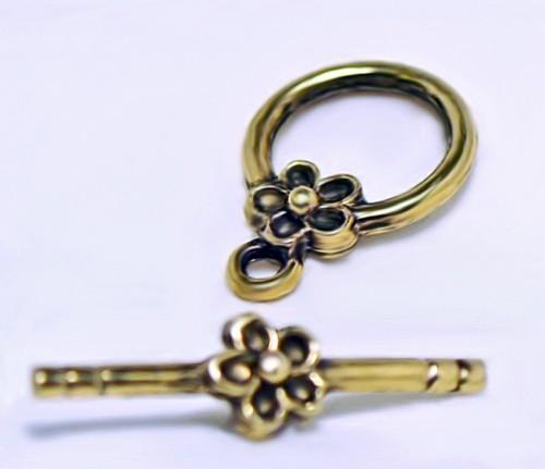 Golden Daisy Toggle- jewlery clasp