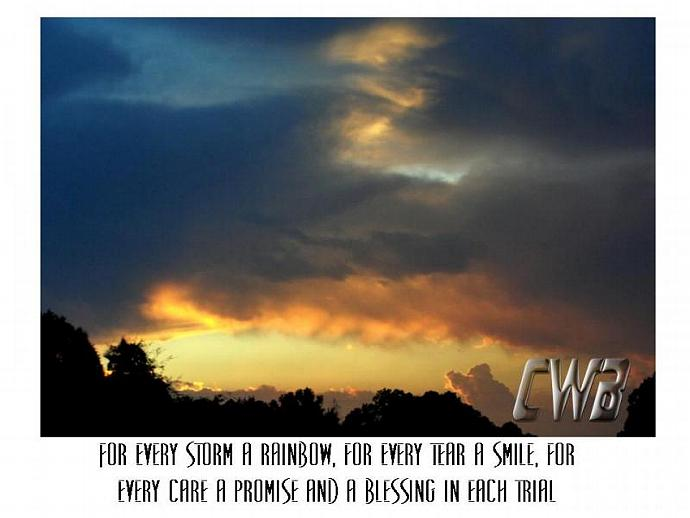 Storm fine art print with Irish Blessing