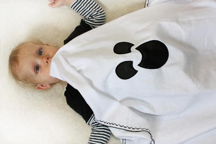 Halloween Ghost Baby Blanket, Halloween blanket, Swaddle Blanket, Halloween