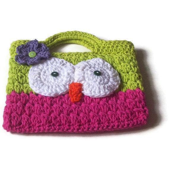Owl Purse Childs Purse Crochet Owl By Made4ucrochet On Zibbet