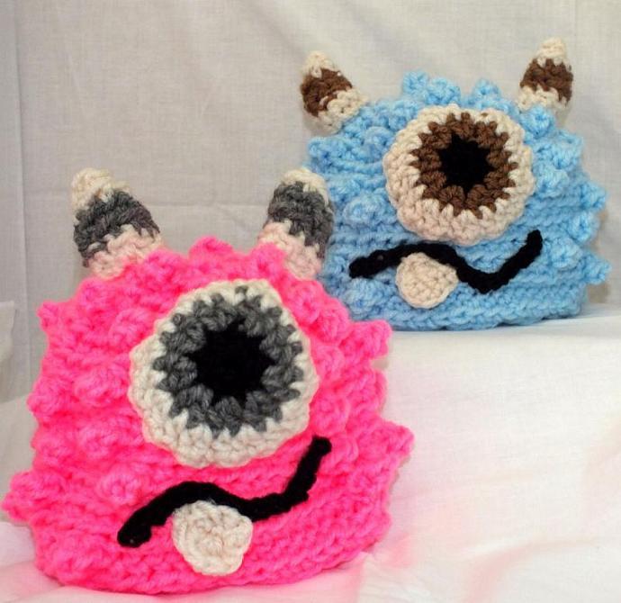 3-6 month Monster Hat