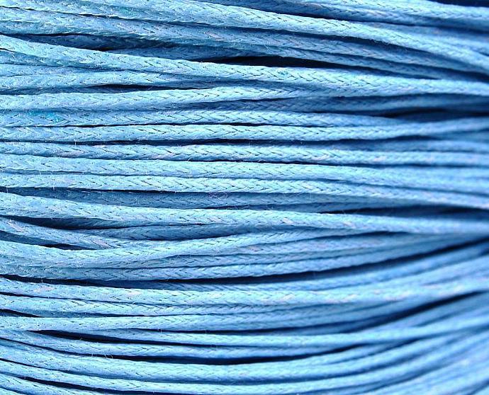 1mm Blue cotton wax cord - 10 feet (1086)