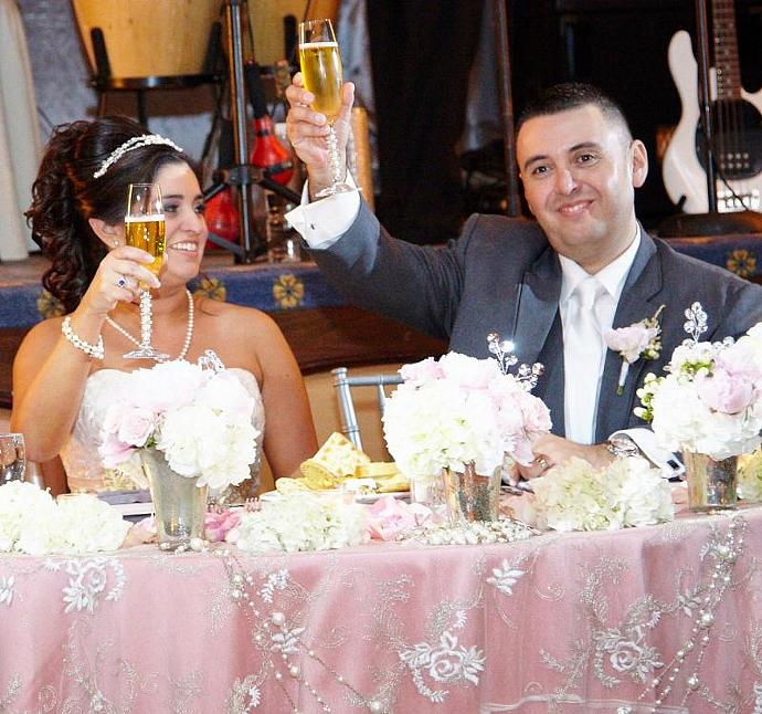 Crystal Wedding Champagne Flutes, Toasting Flutes, Pink SWAROVSKI Crystal, Fresh