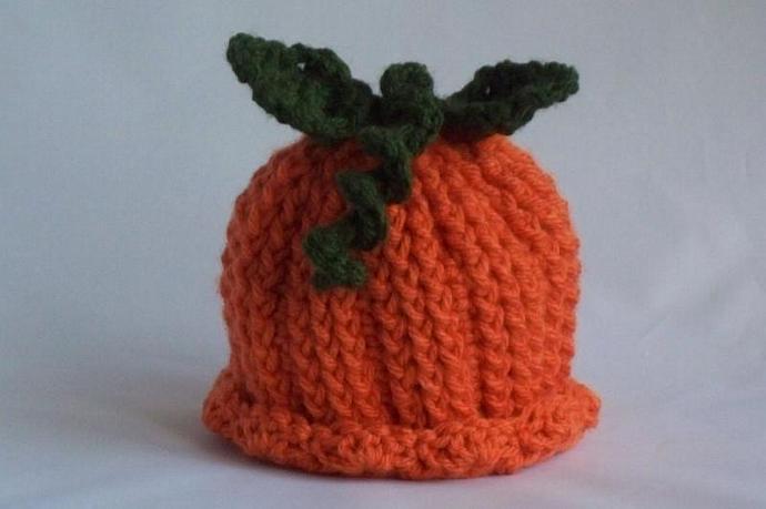 Baby Pumpkin Hat, Halloween Pumpkin Hat