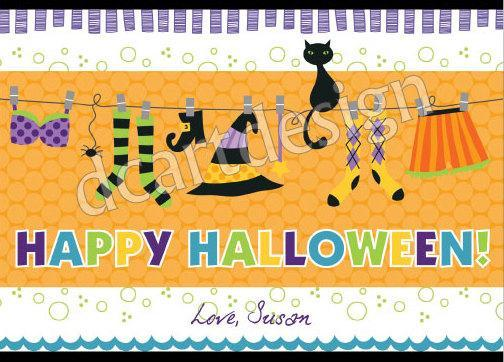 image regarding Happy Halloween Cards Printable named Customized and Printable Satisfied Halloween Card