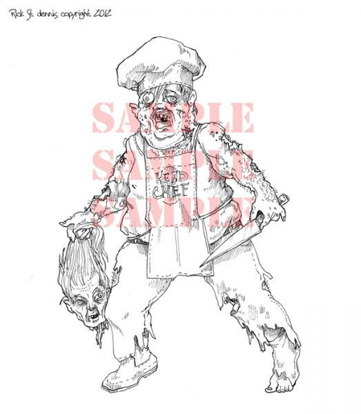 HeaD CHeF digital stamp