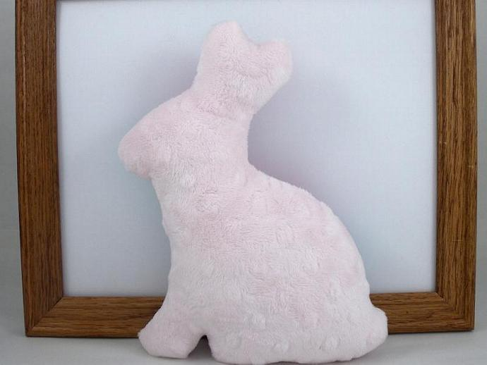 Bunny Plush Stuffed Minky Baby Toy Softie Pink Teal Purple