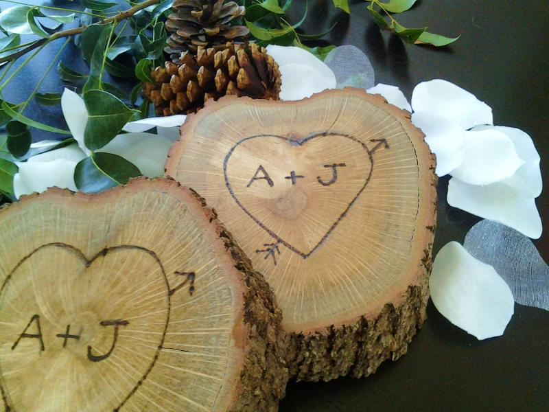 Natural Wood Tree Slice With Custom By JTLCREATIONS On Zibbet